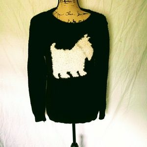 Black, Lauren Conrad, Schnauzer Sweater w Jewels